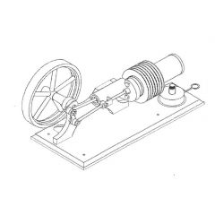 Bauplan Stirlingmotor L